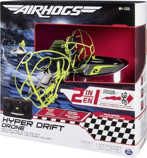 Spin Master Airhogs Hyper Drift Drohne 2in1
