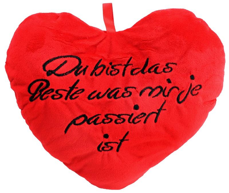 Herz mit Stickerei ca 30 cm