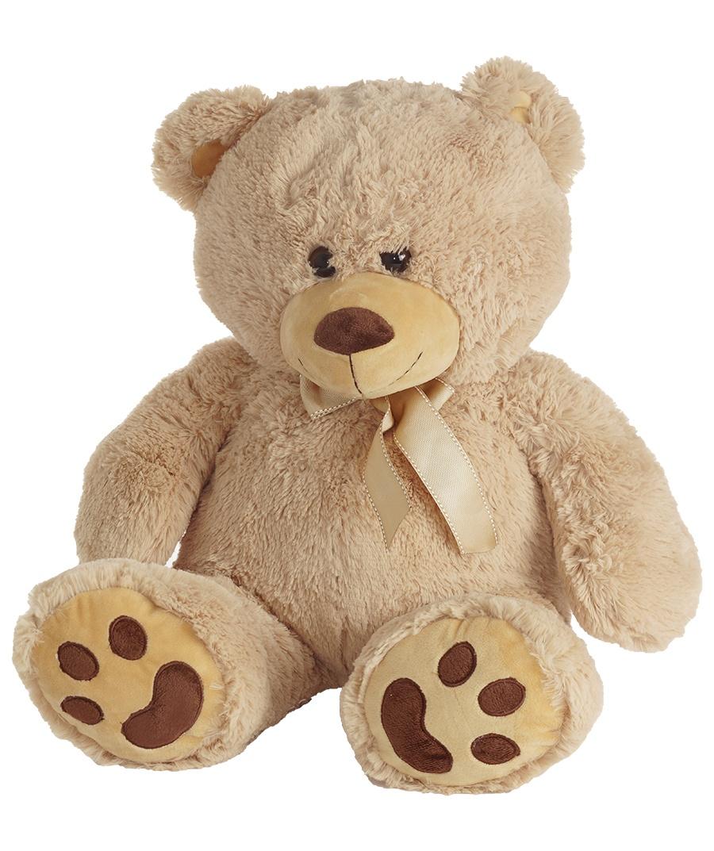 Bär mit Schleife sitzend ca 48cm gesamt ca 70cm