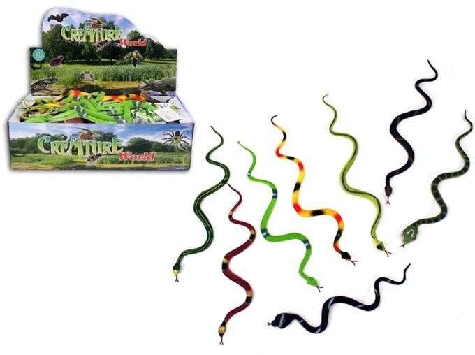 Schlange Gummischlange 8-fach sortiert - ca 30 cm