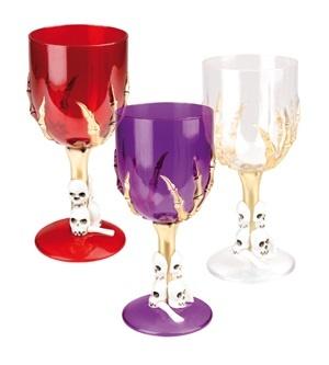 Glas - Weinglas Halloween 3-fach sortiert - ca 18cm