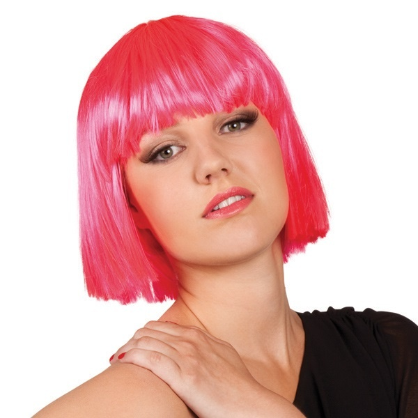 Perücke - Coco Bobfrisur pink