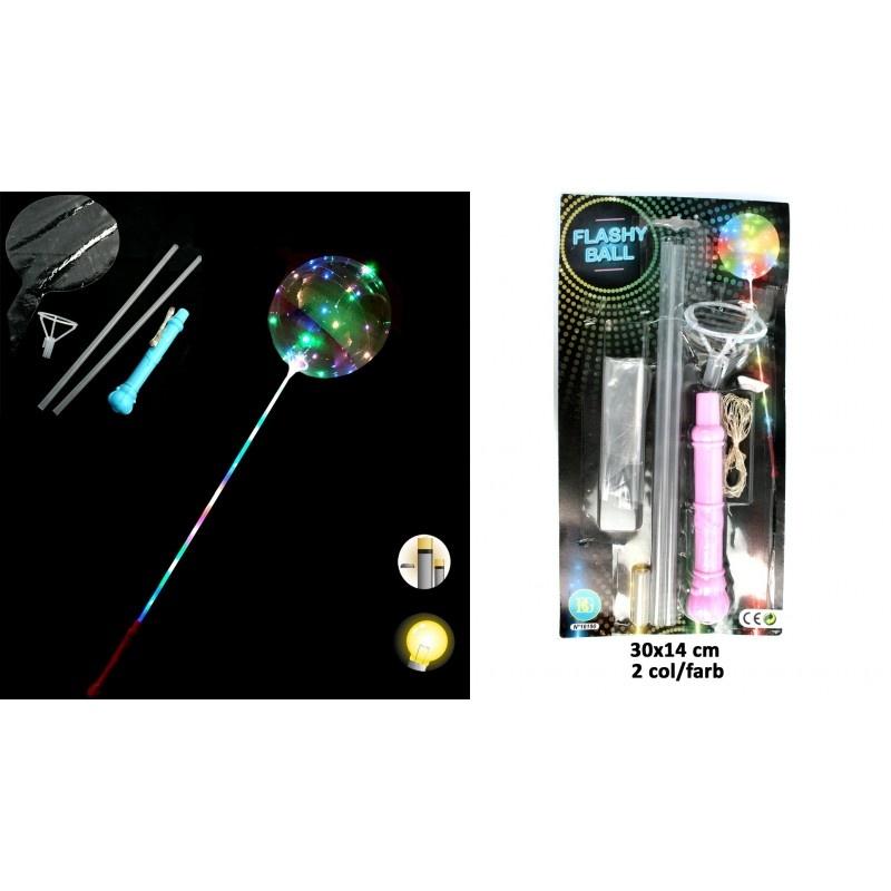 Leucht Ballon mit Stab, 2-fach sortiert  - ca 120cm