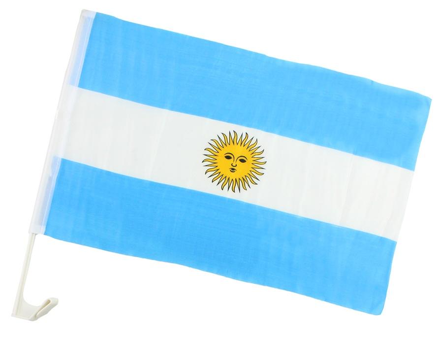 Autofahne Argentinien ca 45 x 30 cm