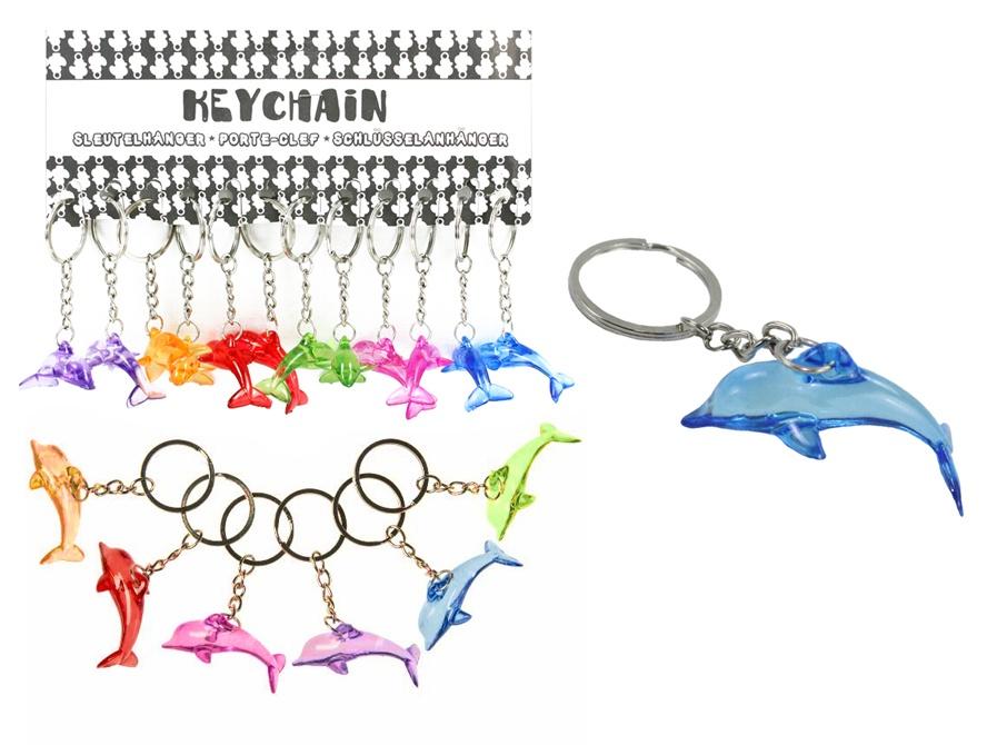 Delfin mehrfach sortiert an Schlüsselanhänger - ca 4,5cm