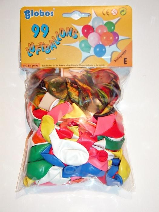 Beutel mit 99 sortierten Ballons