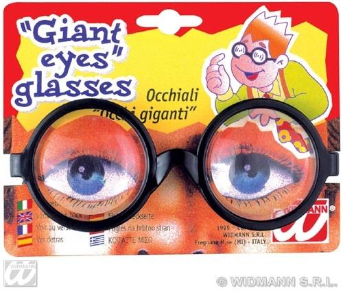 Scherz - Riesenaugen Brille auf Karte ca 14x11 cm