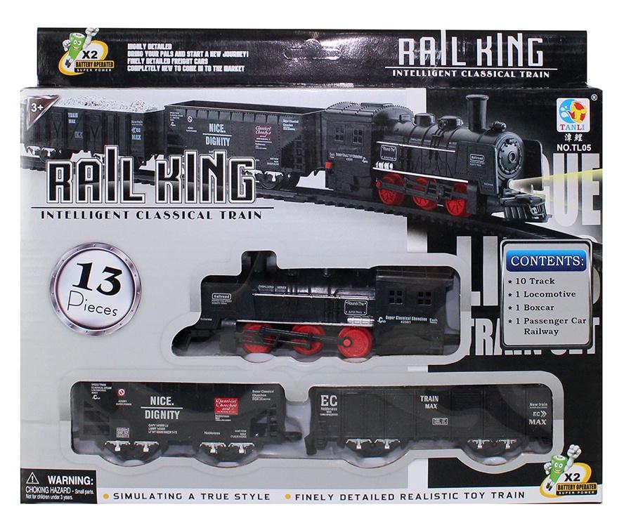 Eisenbahn 13 Teile in Box ca 29x24 cm