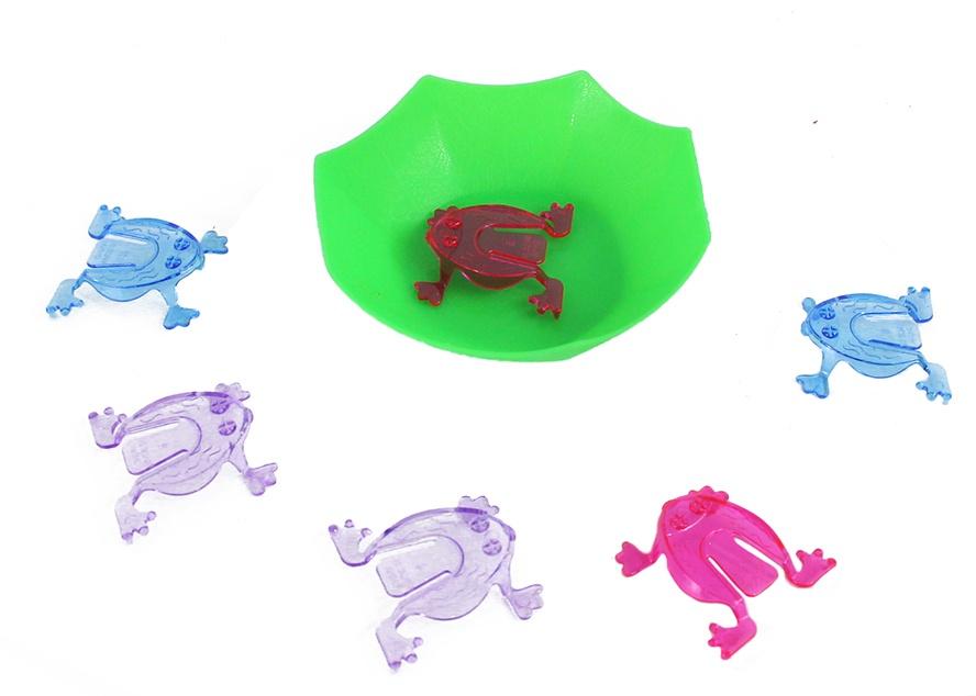 Froschspiel  - mit 6 Fröschen und Miniteich Ø ca 10 cm