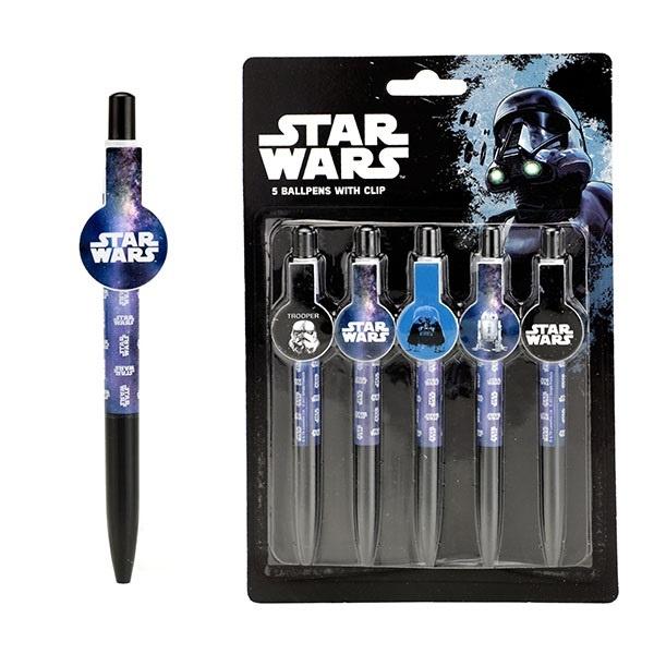 Kugelschreiber Star Wars auf Karte ca 22,5x15cm