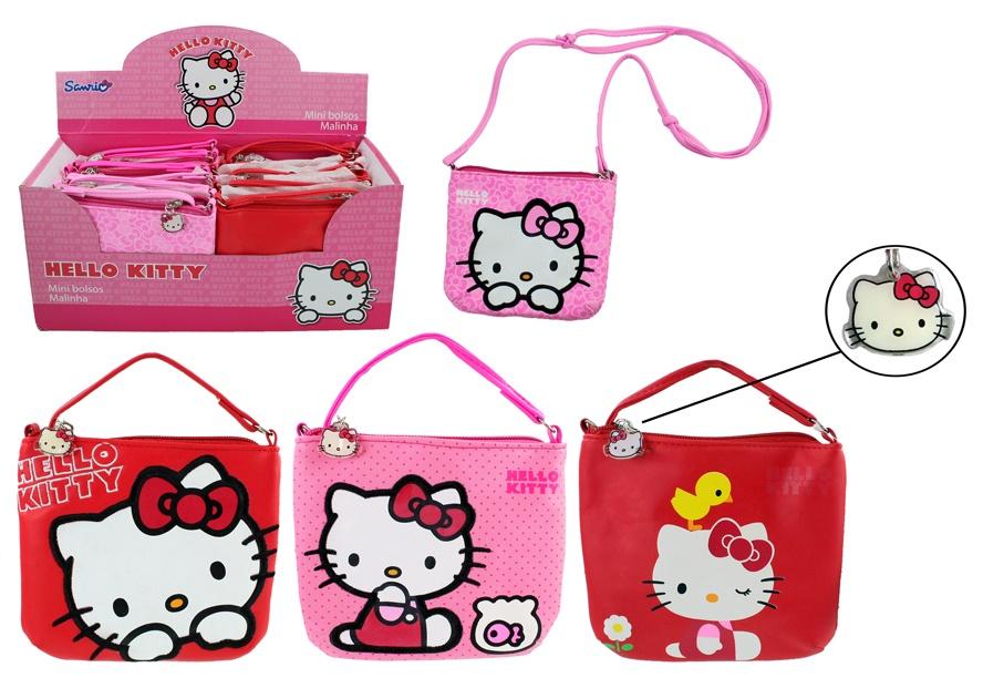 Hello Kitty Tasche 4-fach sortiert - ca 15x13x2,5cm