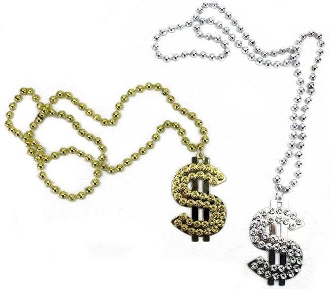 Halskette ,Dollarzeichen, 2-fach sortiert - Umfang ca 80cm
