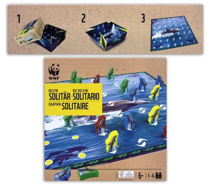 WWF Delfin Solitär Gesellschaftsspiel in Box ca 21x21x9cm