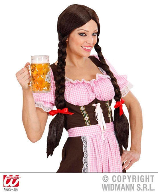 Perücke Gretel Zöpfe braun