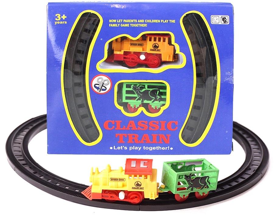 Eisenbahn zum Aufziehen in Box ca 18x15,5x4,5cm
