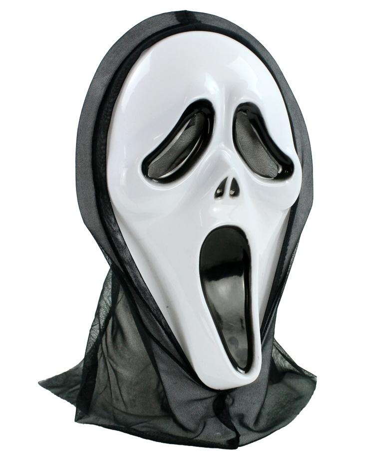 Maske SCREAMING GHOST Geist mit Haube
