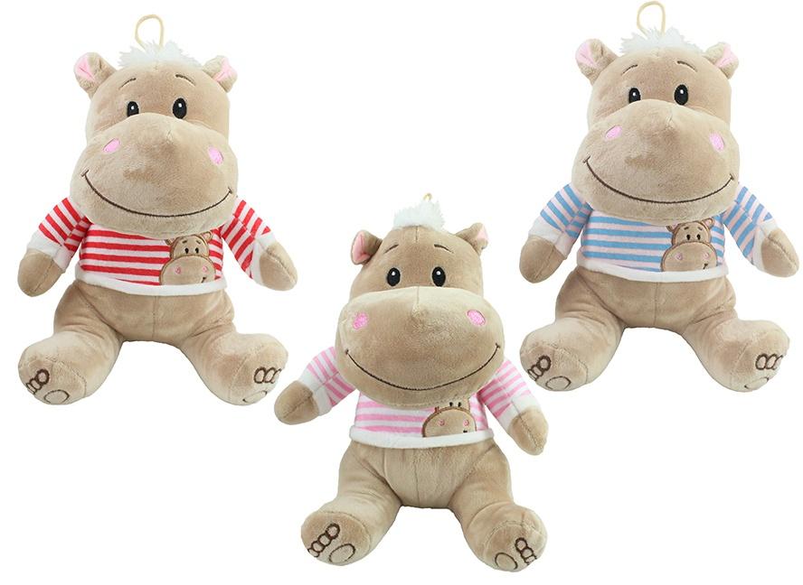 Nilpferd Funny Hippo 3-fach sortiert ca 30 cm