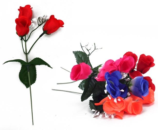 Rosen  Ministrauß 4 Farben sortiert ca 26 cm