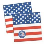 Servietten USA 20 Stück - ca  25 x 25 cm