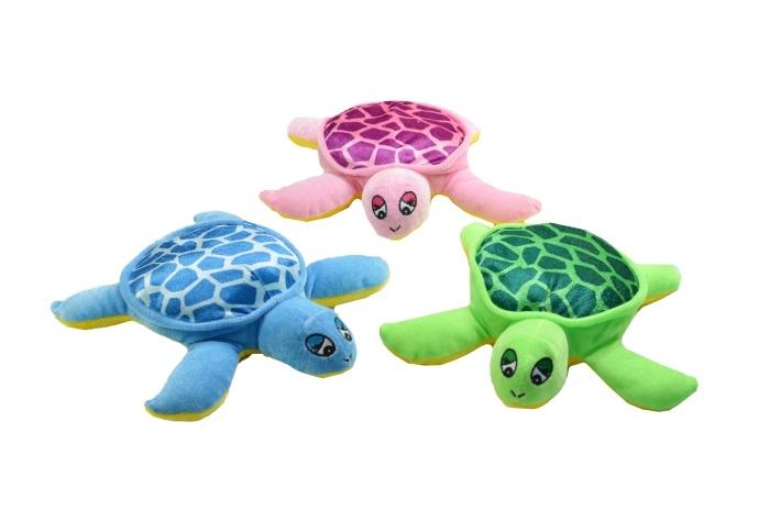 Plüsch Schildkröte 3-farbig sortiert ca 26 cm