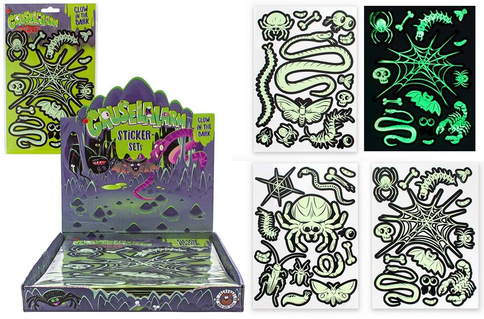 GRUSELALARM Glow in the Dark Sticker 3-fach sortiert
