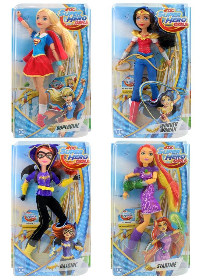 Mattel Puppe Super Hero Girls 4-fach sortiert