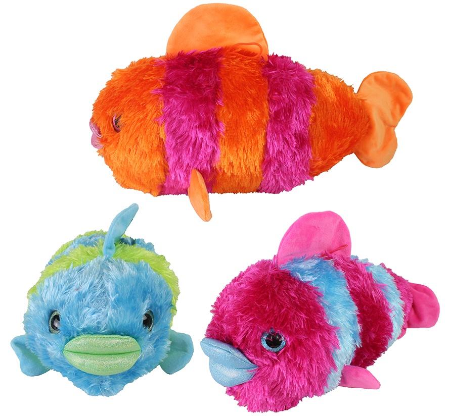 Fisch Zottelplüsch 3-farbig sortiert ca 45cm