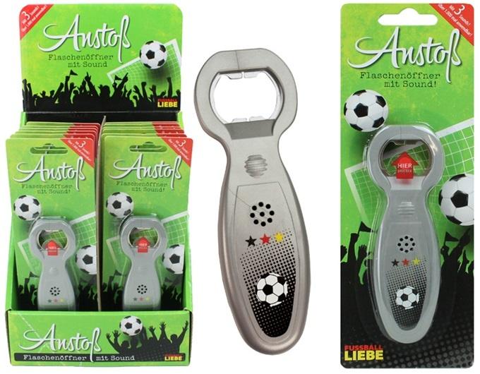 Fußball Liebe Flaschenöffner mit Sound - ca 13cm