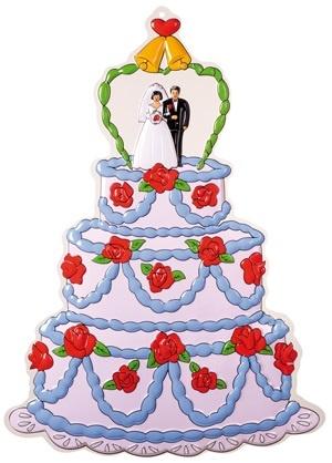 Wanddekoration Hochzeit 75x55 cm