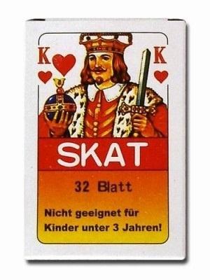 Skatkarten Spielblatt 32 Karten in Schachtel ca 9x6x1cm