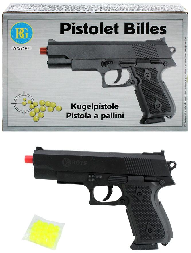 Kugelpistole mit Magazin max 0,08 J ca 15,5 cm