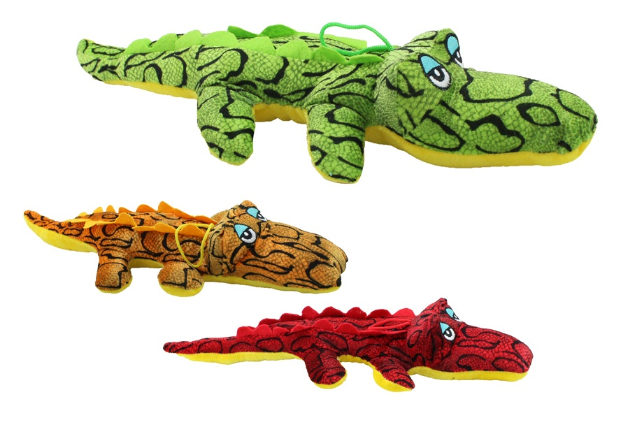 Krokodil liegend 3-fach sortiert ca 45 cm