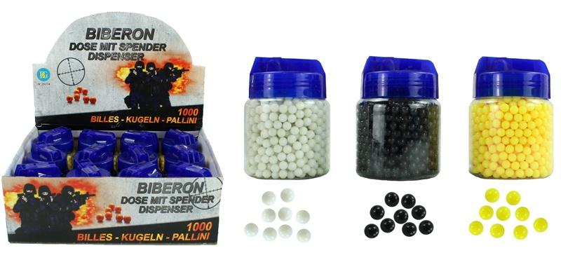 Kugelmunition 1000er 3-fach sortiert - Dose ca 8,5x6cm