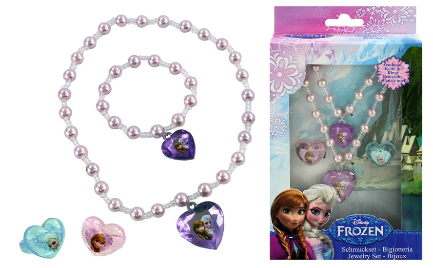 DISNEY Frozen Schmuckset 4 teilig in Box ca 20,5x12x3,5cm