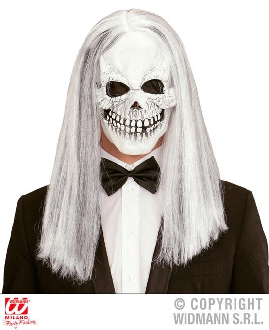 Maske Totenkopfmaske mit Haaren