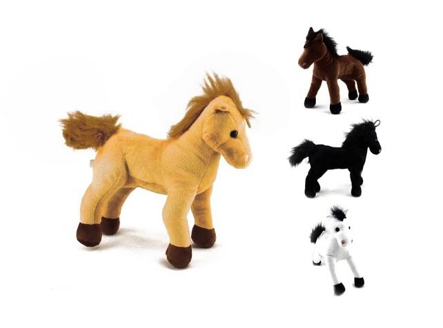 Pferd  stehend  in  4 Naturfarben sortiert ca 22 cm