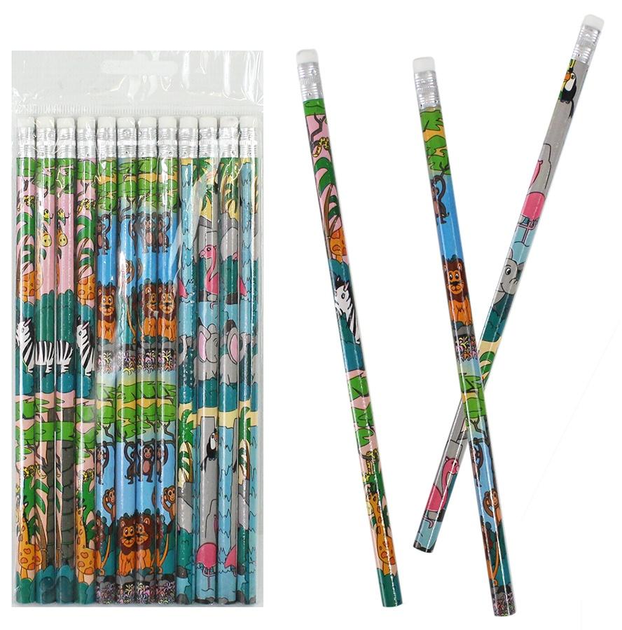 Bleistift Wildtiere Zootiere ca 19cm