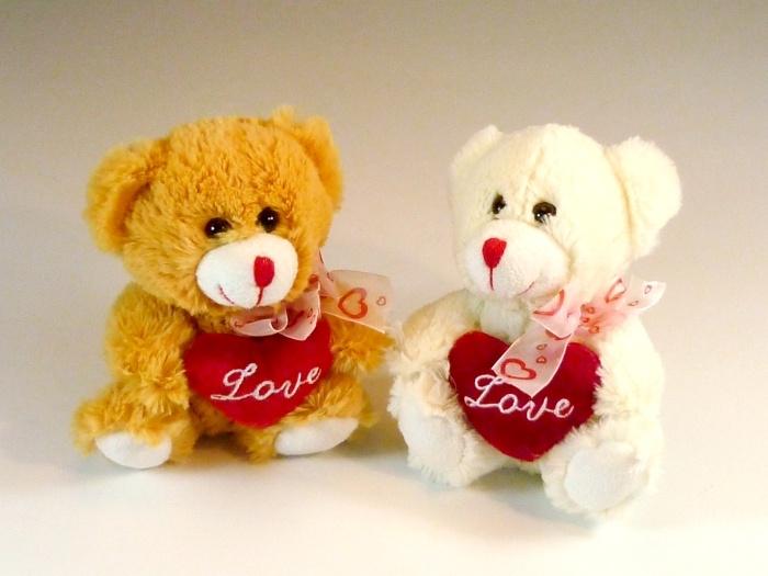 Bär mit Herz, 2-fach sortiert ca 17 cm