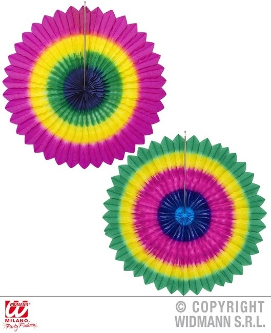 Rosette 2 Farben sortiert  ca Ø 75 cm