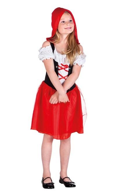 Kostüm Rotkäppchen Kinderkostüm mit Kapuze ( 4-6 Jahre)