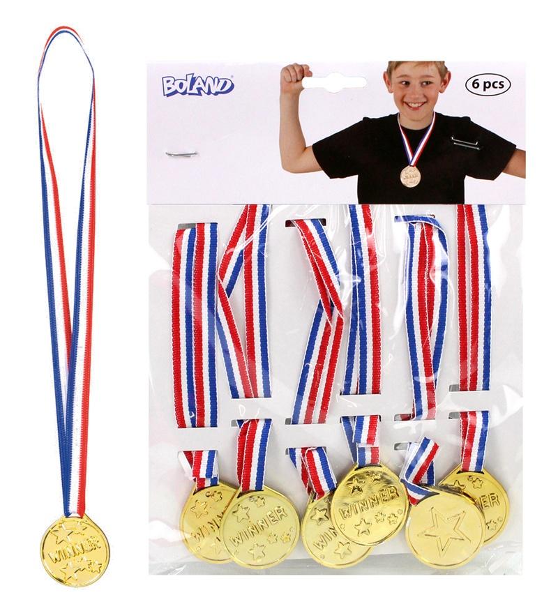 Medaillen Winner 6 Stück  auf Karte