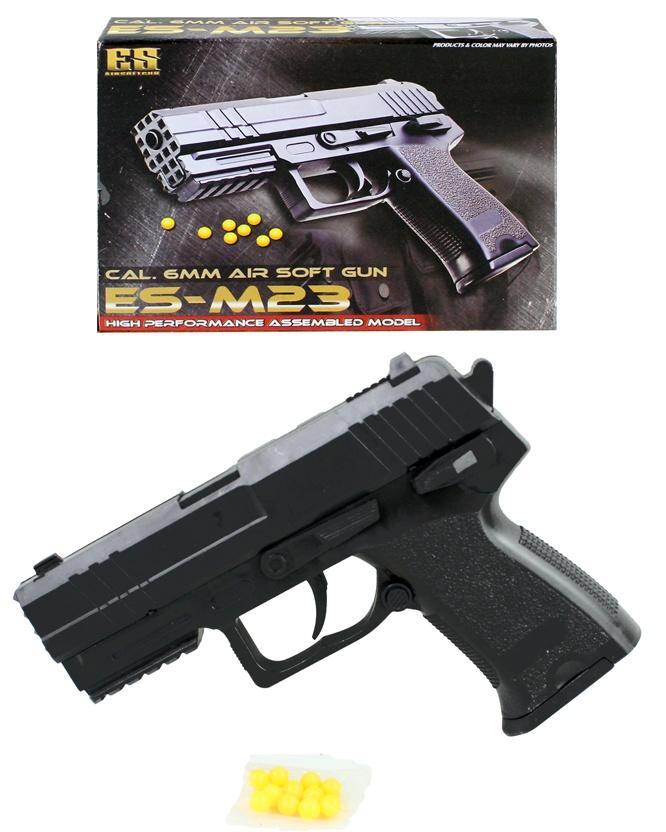 Kugelpistole mit Magazin max 0,08J - ca 15 cm