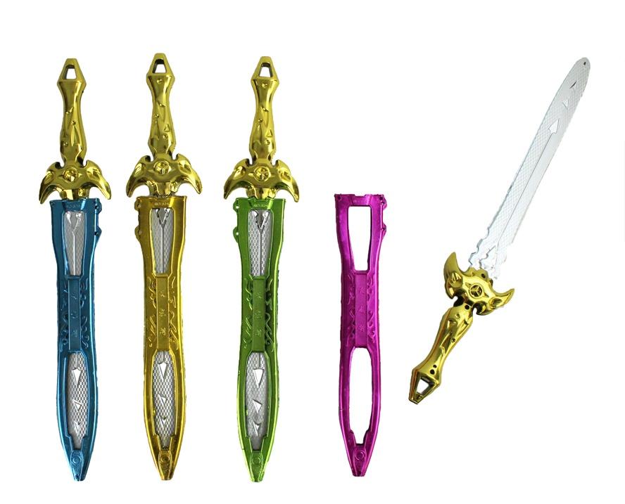 Schwert metallicfarben 4-fach sortiert ca 42 cm
