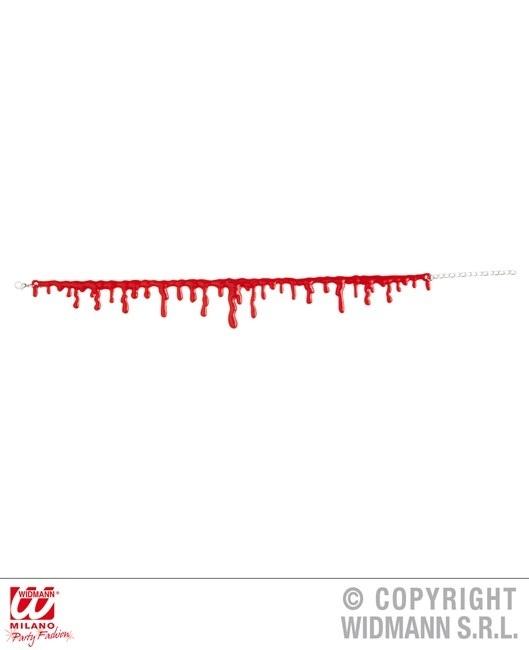 Halskette mit Blutstropfen an Karte ca 18x10cm