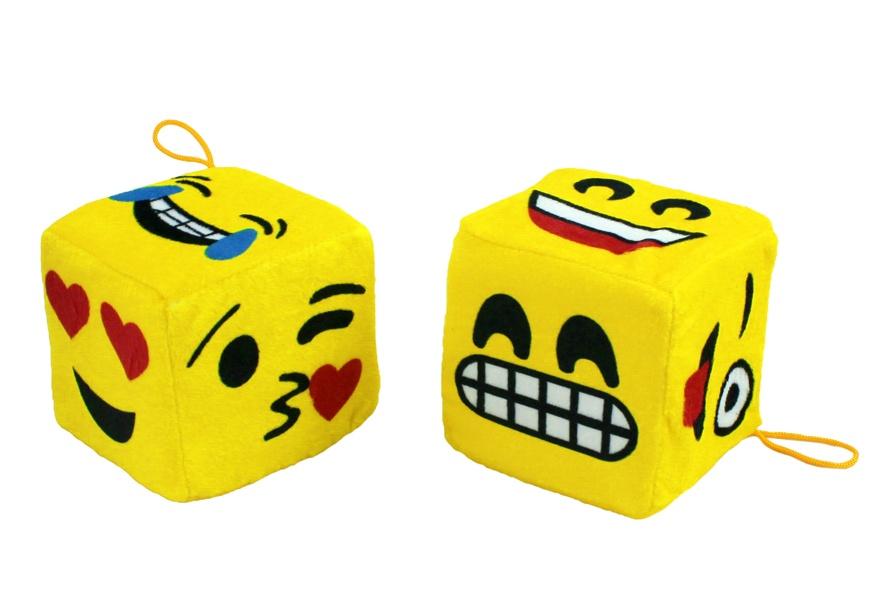 Würfel mit Lachgesicht Emoticon ca 10x10 cm