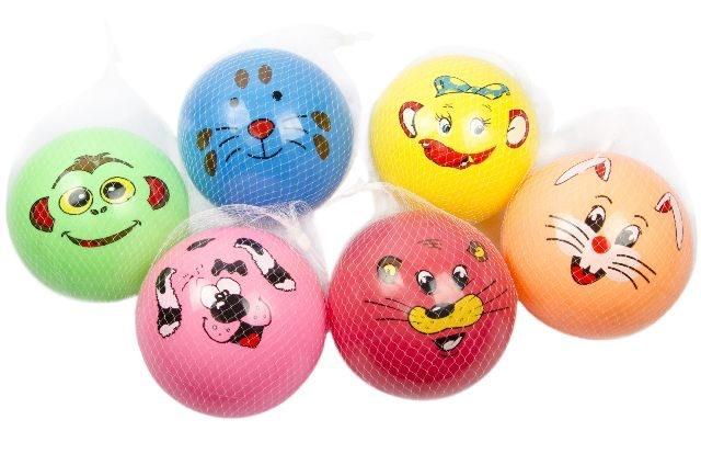 Aufblas Ball Tiergesicht mehrfach sortiert - ca 22cm