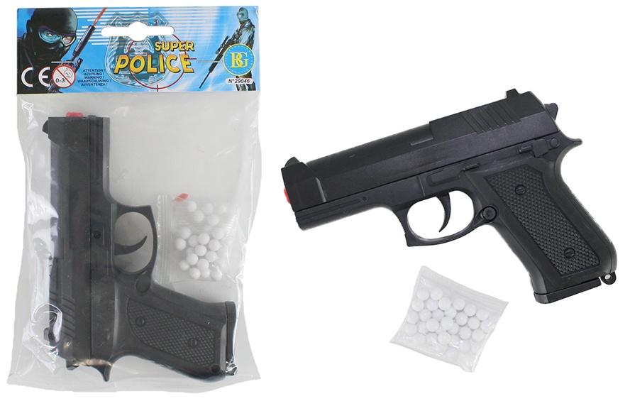 Kugelpistole mit Magazin max 0,08 Joule ca 13 cm