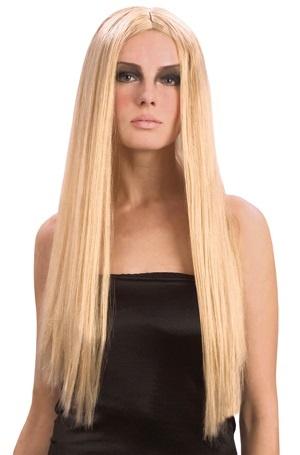 Perücke - Hexe Langhaar blond