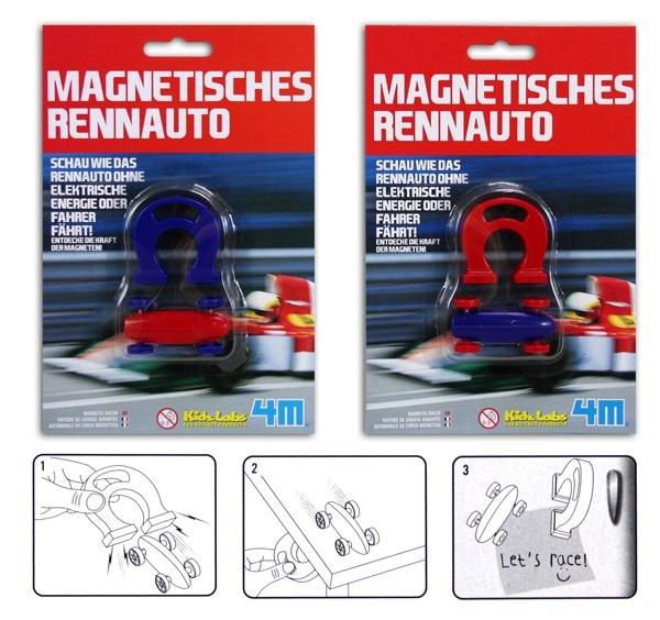 Rennauto magnetisch 2-fach sortiert auf Karte ca 19,5x13cm