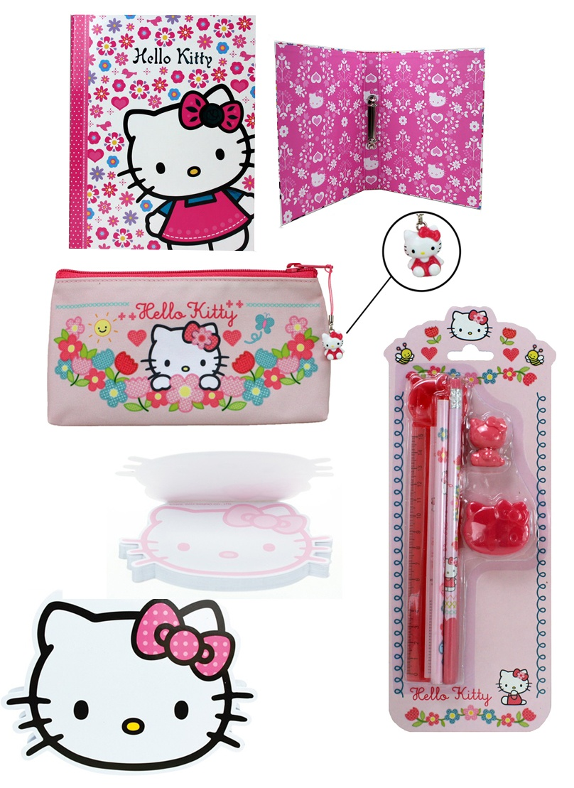 Hello Kitty Set Schreibset Ordner Notizblock Etui